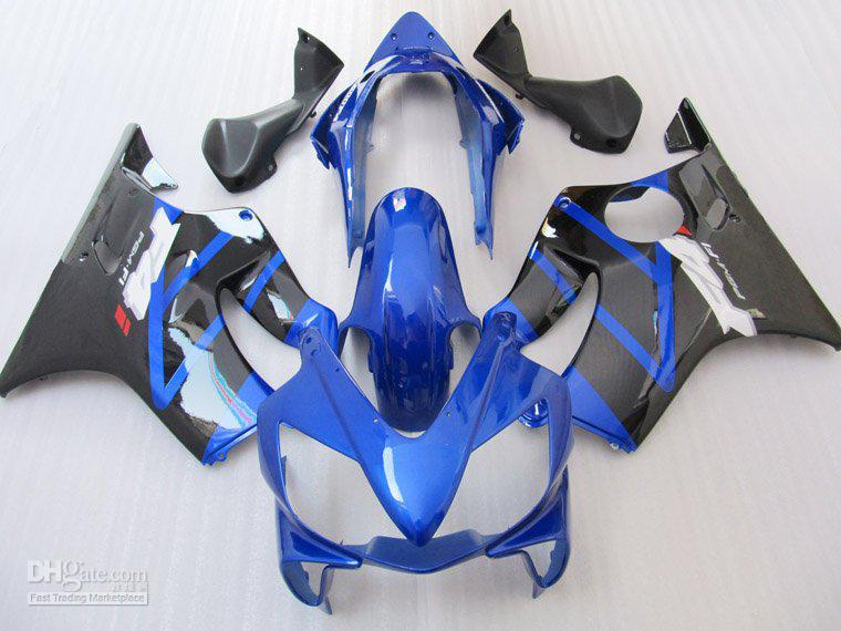 Blue Black for HONDA CBR600 F4i 04-07 CBR 600F4i 600 F4i 04 05 06 07 2004 2005 2006 2007 fairing kit(China (Mainland))