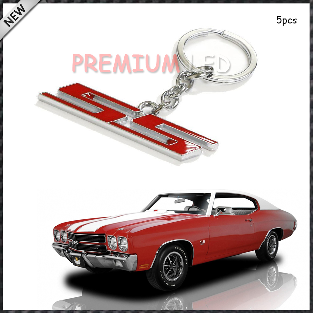 (5) Chrome Finish Super Sport SS Key Chain Fob Ring Keychain For Chevrolet Chevy(China (Mainland))