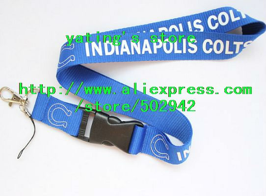 Indianapolis Colts NFL Lanyard with Detachable Key Ring FREE US SHIPPING(China (Mainland))