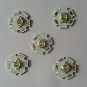5pcs/lots Cree XR-E Q5 3.7W 240lm 6500K White Light LED Emitter - White (20mm / DC 3.6~4.2V) T1000
