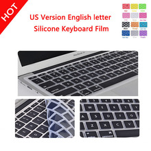 On Promotion Protective Film for Apple Macbook Air Skin Silicone Laptop 11 inch US version English Keyboard Protector Cover