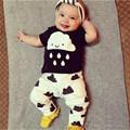2016 NEW Autumn Fashion Baby boy clothes Baby girl clothes Cotton Cartoon Short sleeved 2pcs O