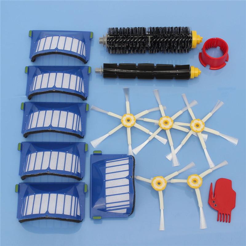 AeroVac Filter,Side Brush,Bristle and Flexible Beater Brush for iRobot Roomba 600 620 625 630 650 660(China (Mainland))