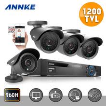 ANNKE 8CH CCTV System 1080P DVR HDMI 4PCS 1200TVL IR Weatherproof Outdoor CCTV Camera Home Security System Surveillance Kits