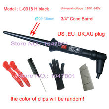 3/4' 'Cone Curling  Iron Wand Hair Iron Curler Professional Salon Tapered Hair Curler Roller Barrel Diameter09-18mm(China (Mainland))