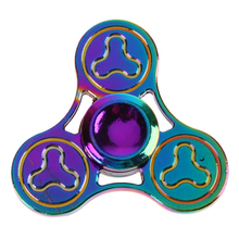 Buy New Toy Hand Spinner Colorful Tri-Fidget Spinner Metal Alloy Finger EDC Toy Focus Anti Stress Gift Toys Tops Spinner for $2.75 in AliExpress store