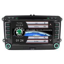 Wince Car DVD Player GPS Navigation Two Din 7 Inch For Volkswagen VW Skoda POLO PASSAT B6 CC TIGUAN GOLF 5 Fabia support 1080p