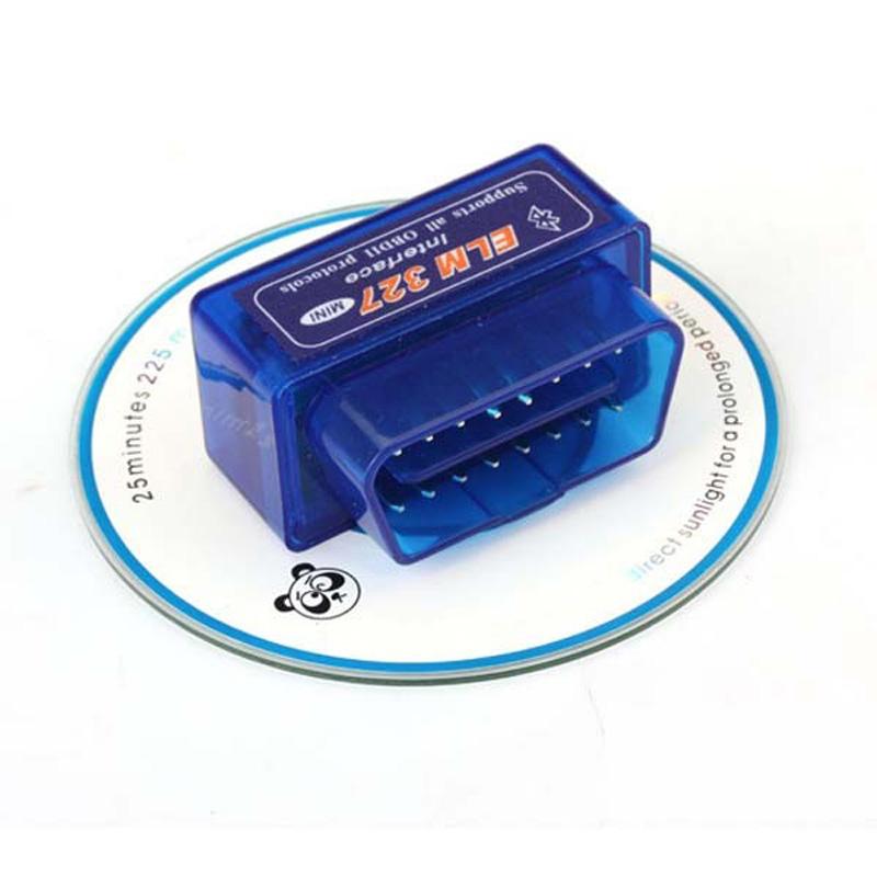 MINI ELM327 Bluetooth OBD2 V2.1 blue color scan super mini elm 327 scan tool(China (Mainland))