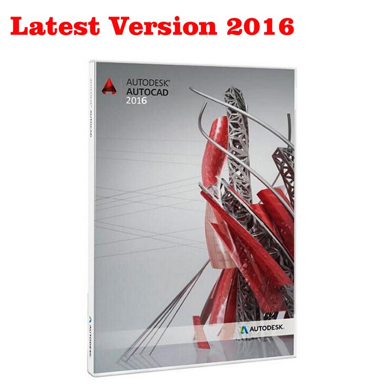 Latest Version autodesk autocad 2016 For Win 32&64Bit English Version