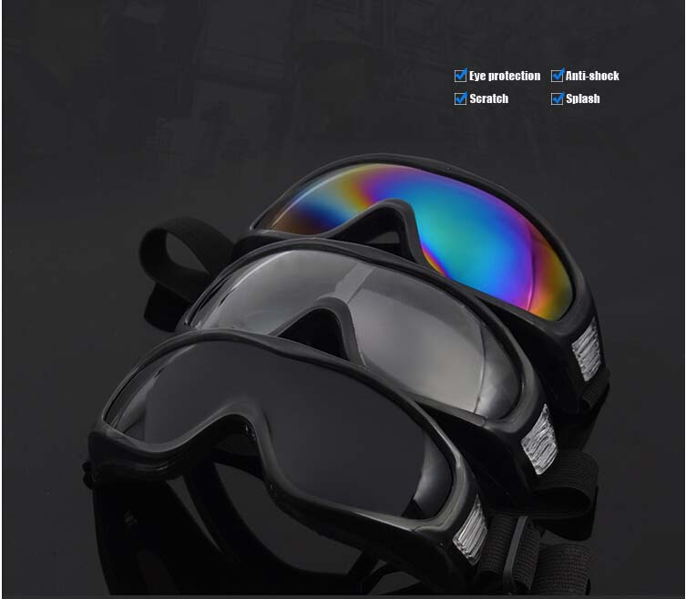 Winter Outdoor Sports White frame coloured lens Adult Snowmobile Snowboard Skate Ski goggles X400 UV Protective Glasses Eyewear(China (Mainland))