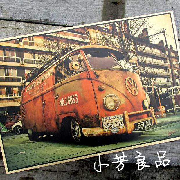 vintage tin signs VW bus retro iron painting vintage car tin plate bar antique wall decoration posters(China (Mainland))