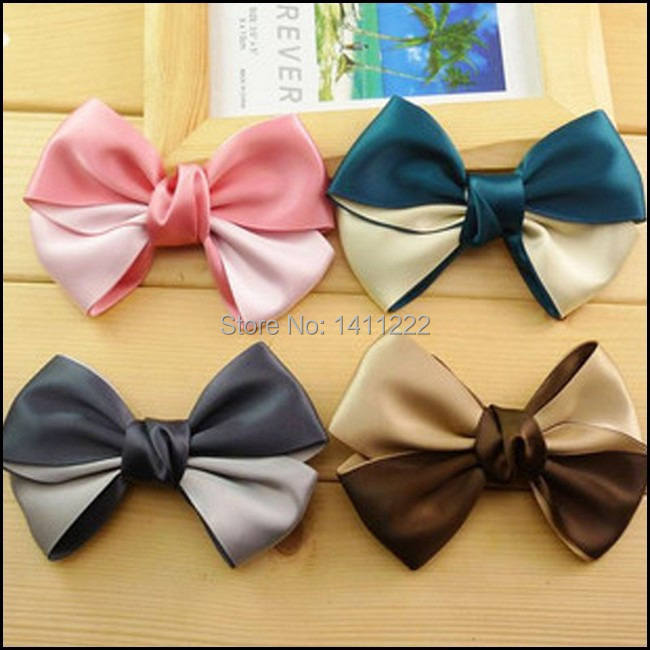 New Style Fashion Korean Big Bow Alligator Hair Clip Barrete Hair Accessories For Women 12pcs/lot(China (Mainland))
