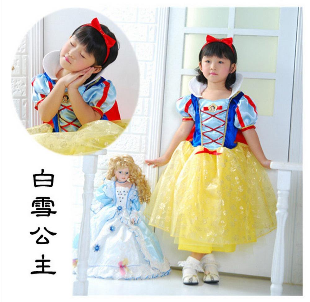 Film animation clothing children s christmas clothing snow white dress