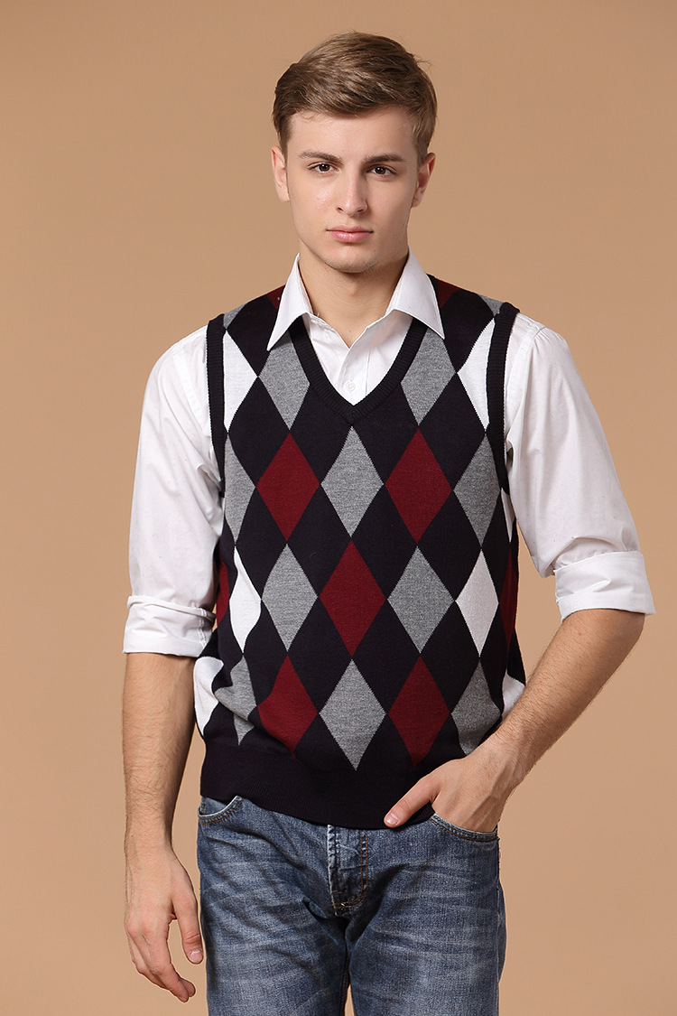 Knitting Pattern Mens Sleeveless Vest : Online Buy Wholesale sleeveless sweater knitting pattern from China sleeveles...