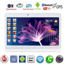 DHL Free Shipping 10 Inch Tablet PC MTK6582 Quad Core 1024*600 2G RAM 16G ROM Dual SIM Card Android 4.4 GPS 3G tablet PC 7 9 10(China (Mainland))