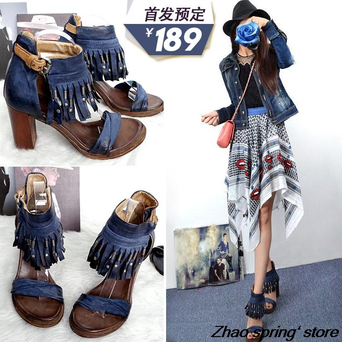 New summer retro fringed leather sandals<br><br>Aliexpress