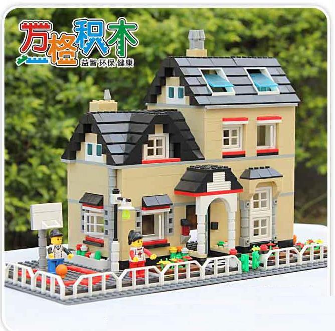 755 Pcs Super Large Villa Building Block Eductional Toys Structure House Models Brick Block Compatible With Lego Block Gift(China (Mainland))