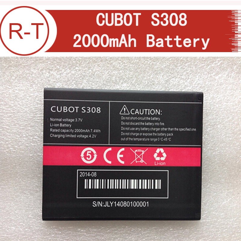 100% High Quality Original 2000mAh Li-ion Battery For CUBOT S308 Smartphone Free Shipping