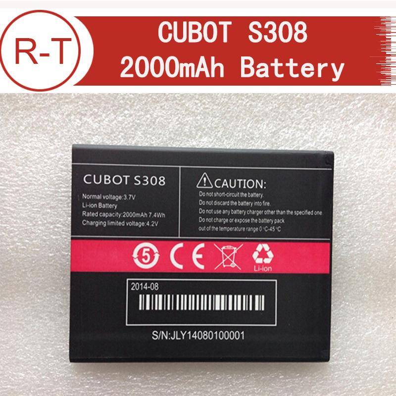 Cubot s308 батарея 100% высокое качество оригинал 2000 мач литий-ионная батарея замена для cubot s308 смартфон бесплатная доставка