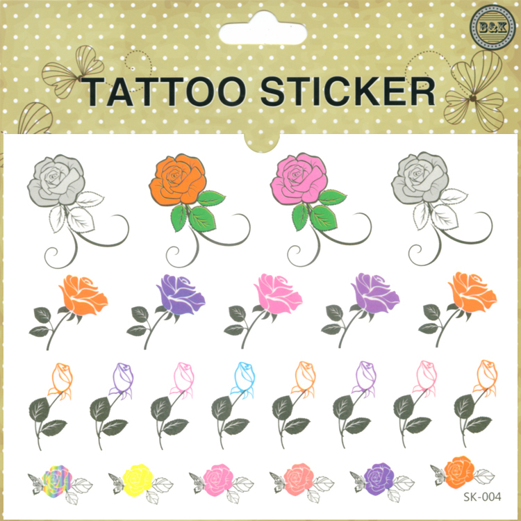 women sex products temporary tattoo stickers waterproof flower rose small body art finger tatoo mini order $5(China (Mainland))