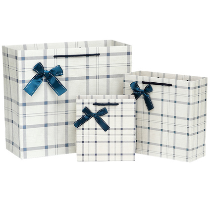 free shiping super classic sytle gift paper bag portable with bowknot suitable for party house moving giftbag closing(China (Mainland))