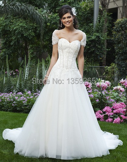New Arrival 2014 Wedding Dresses For Renting With Lace Vestidos De Noviaob Br