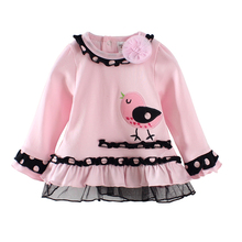 Children's Clothing baby girls t-shirts spring and autumn clothes long sleeve o-neck tops baby girl clothes