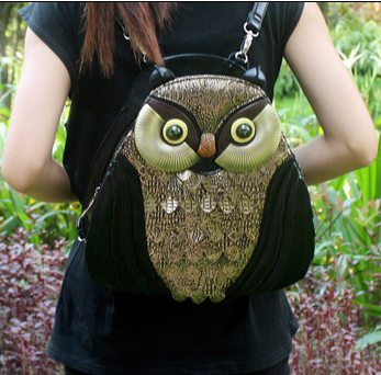 Creative summer section lovely lady bag shoulder portable backpack bag with three women bag owl animal personality<br><br>Aliexpress