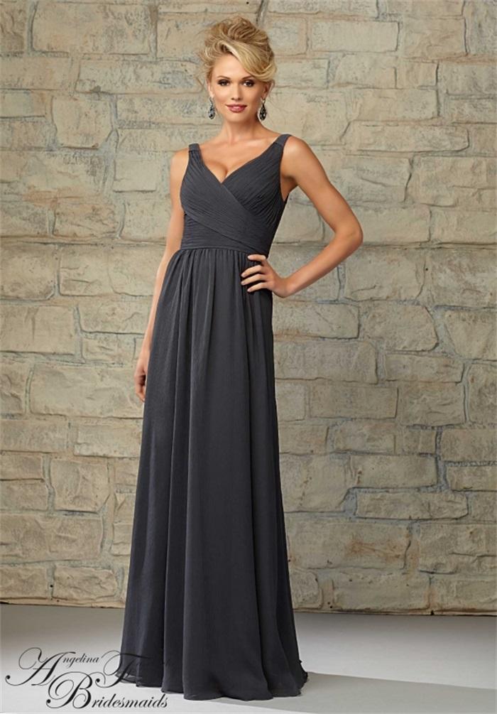New Arrival Cheap Dark Grey Bridesmaid Dresses 2015