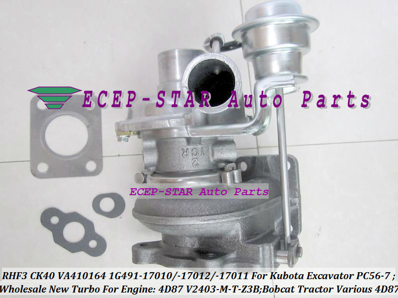 Free Ship RHF3 CK40 1G491-17011 1G491-17012 1G491-17010 Turbo For Kubota Excavator PC56-7 For Bobcat Tractor 4D87 V2403-M-T-Z3B(China (Mainland))