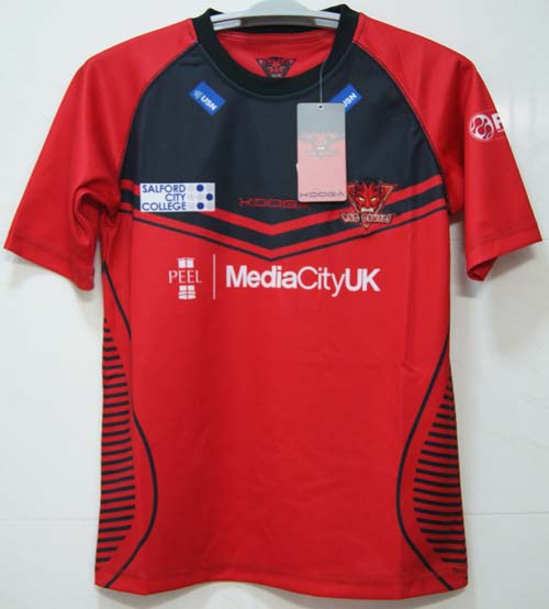 KOOGA RED DEVILS Rugby Jersey Men Short Sleeve Red Rugby Shirt(China (Mainland))