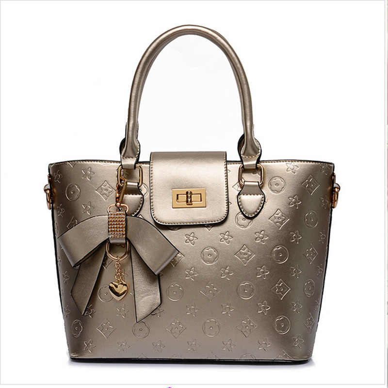 2016 New bags women handbags brand fashion ladies hand bag high quality European style embossed handbag shoulder Messenger bag(China (Mainland))