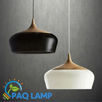 Современные лампы подвесные светильники древесины и алюминия лампы черный / белый ресторан кафе - бар столовая подвесной светильник из светодиодов