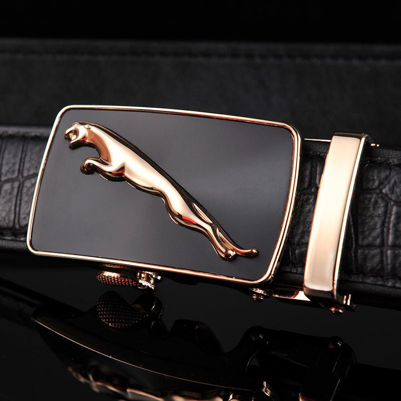 Gold Silver Car Logo Belt Genuine Cow Skin Leather Strap Crocodile Cool Metal Homme Ceinture De Luxe Fashion Wide Elastic Belts(China (Mainland))