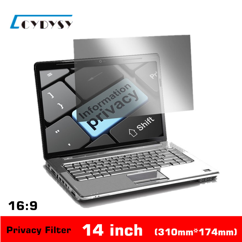 14 inch No glue PET material Laptop Privacy Screens Anti Privacy Filter for Laptop Computer Monitor 310*174mm(China (Mainland))