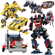 GUDI Movie Transformation Series Bumblebee Building Blocks Figures Model Toys Robot 2 In 1 Vehicle Car Compatible With Legos(China (Mainland))