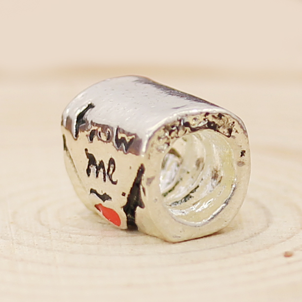 Free Shipping Silver Plated Bead Charm European Mail From Me Glaze Love Bead Fit Pandora Bracelet & Bangle DIY Jewelry H707(China (Mainland))