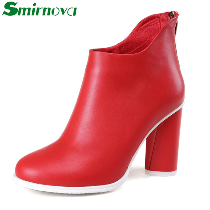 Фотография just arrival 2016 high quality autumn winter women ankle boots fashion strange style genuine leather hot popular ladies shoes