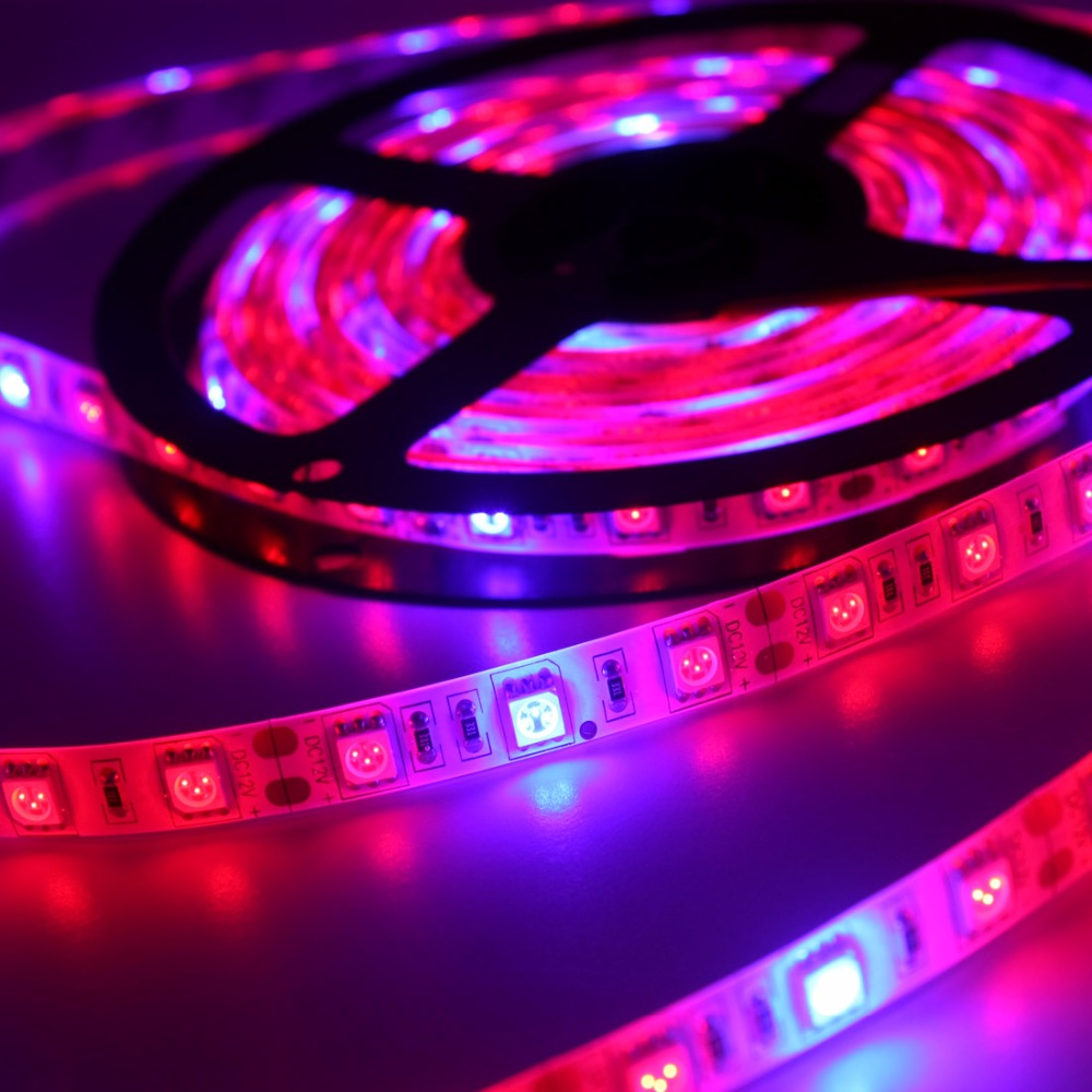 5 meters set led flexible strip grow light 300leds adhesive dc12v led hydroponics flowering lamp. Black Bedroom Furniture Sets. Home Design Ideas