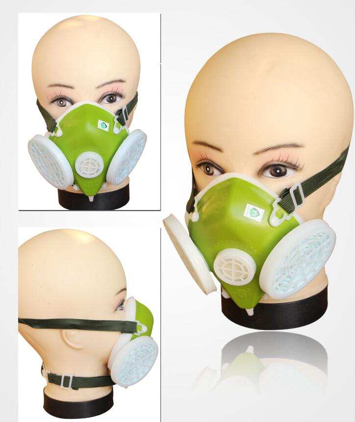 Dual Cartridges Filters Industrial Safety Respirator Dust Mask Anti-dust Spray(China (Mainland))