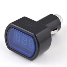 New DC 12V 24V Car Digital LED Engine Battery Voltage Electric Volt Meter Monitor Indicator Tester Voltmeter hot selling(China (Mainland))