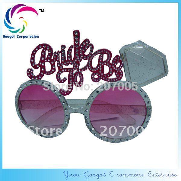 Free Shipping Bride To Be Diamond Sunglasses Wedding Sunglasses Novelty Sunglasses(China (Mainland))