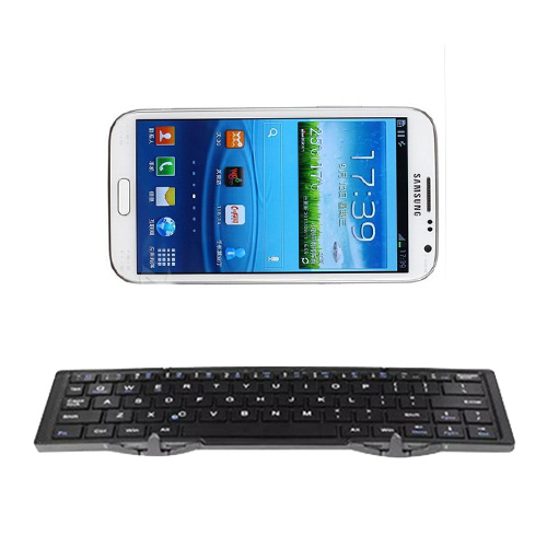 Charging Universal Wireless Bluetooth Keyboard Mini Folding Keyboard for IOS/Android for Galaxy Note 2 N7100 NOTE2(China (Mainland))