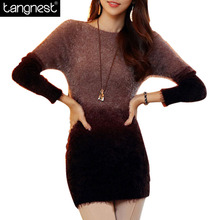 2016 Spring Autumn Women Mohair Knitted Sweaters Pullovers Casual Patchwork Pullover Knitwear Sweater Jumper Pull Femme WZM256(China (Mainland))