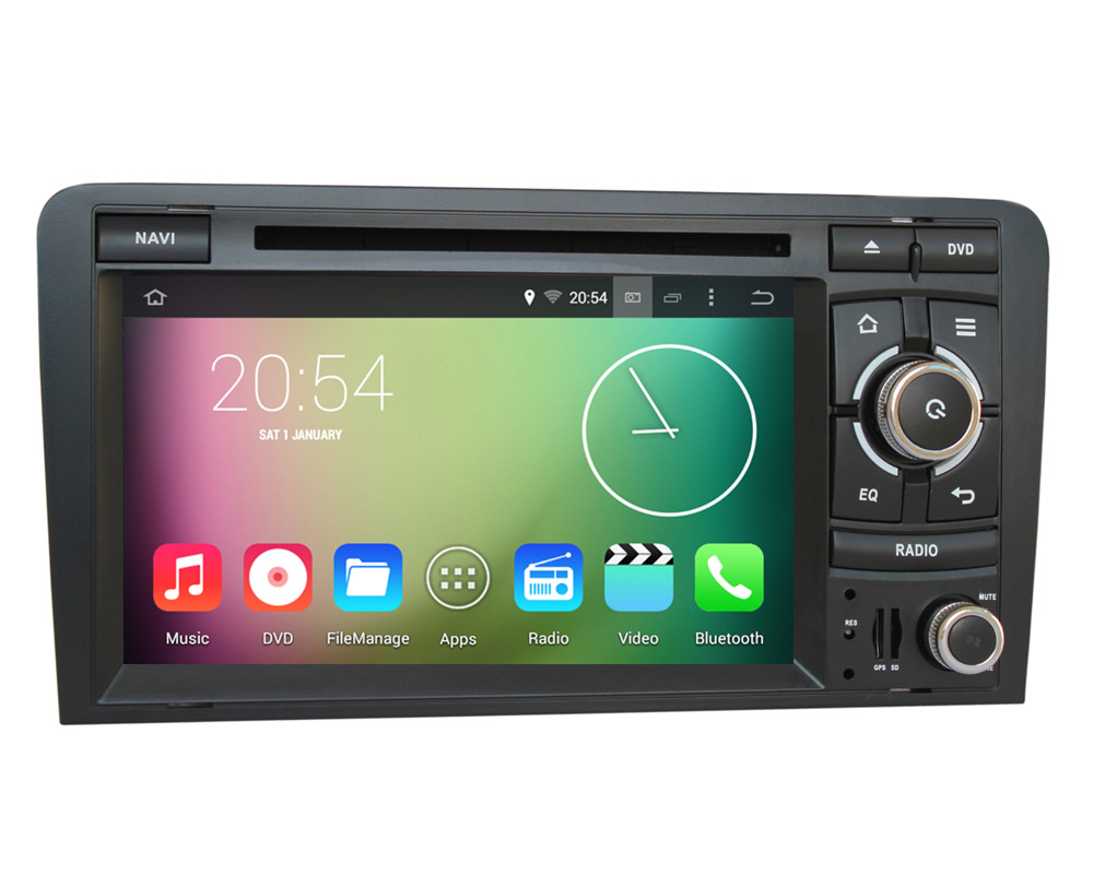 Android 4.4.4 HD 1024*600 Quad core 1.6GHz Nand Flash 16GB 7 Capacitive Touchscreen Car DVD Player For Audi S3 2003-2011<br><br>Aliexpress