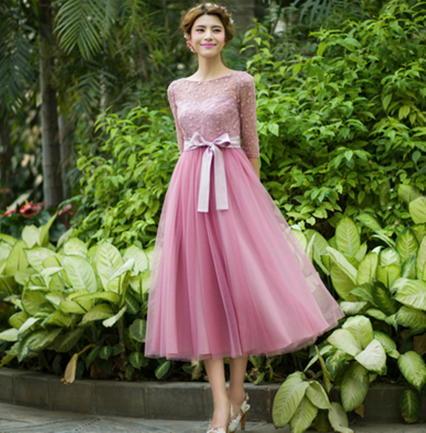 2015 New Arrival Cute Ball Gown Solid Half Regular Natural O-neck Ankle-length Chiffon Sashes Dresses Summer Women Long DressОдежда и ак�е��уары<br><br><br>Aliexpress