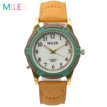 New Fashion Brand MILER Women Watches Leather Strap Luminous Pointer Quartz Watch Sport Watch Female Wristwatch Relogio Feminino(China (Mainland))