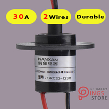 2 Wires/Circuits *30A 22mm wind generator slip ring , wind turbine slip ring ,Rotating Connector capsule slip ring(China (Mainland))