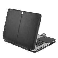 Mosiso Elegant Laptop Sleeve Bag PU Leather Protective Cover Case for Apple Macbook Pro 13 13.3 inch A1278 with CD Drive