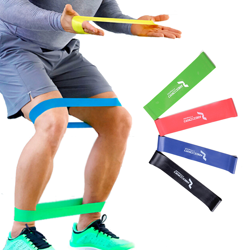 4 Levels Resistance Bands,Yoga Gym Strength Training Fitness Band,Elastic Rubber Resistance Loop Crossfit Exercise Equipment(China (Mainland))